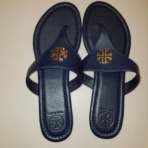 Brand New Navy Tory Sandals